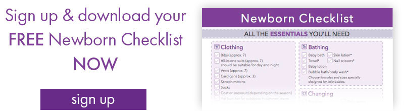 sign up for newborn baby checklist printable
