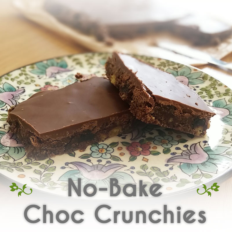 Kates no bake Choc Crunchies