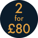2 for £80 Gold Square