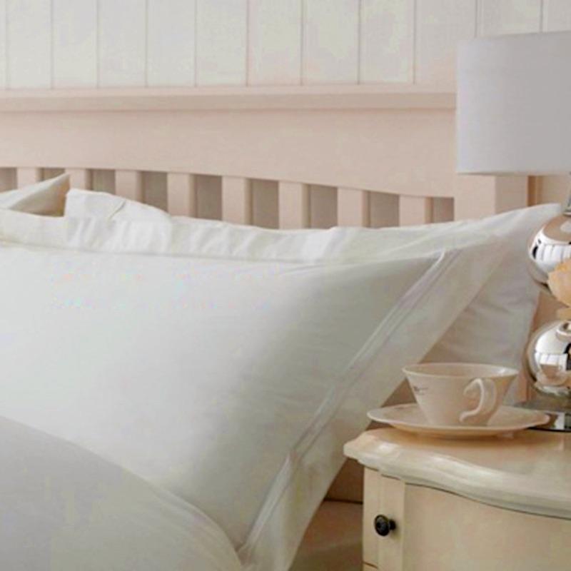 Egyptian Cotton White Oxford Edge Pillowcase Two Row (Single)