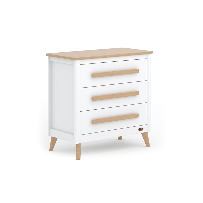 Image Is Loading White Chest Of Drawers Wicker Baskets Pink Kids