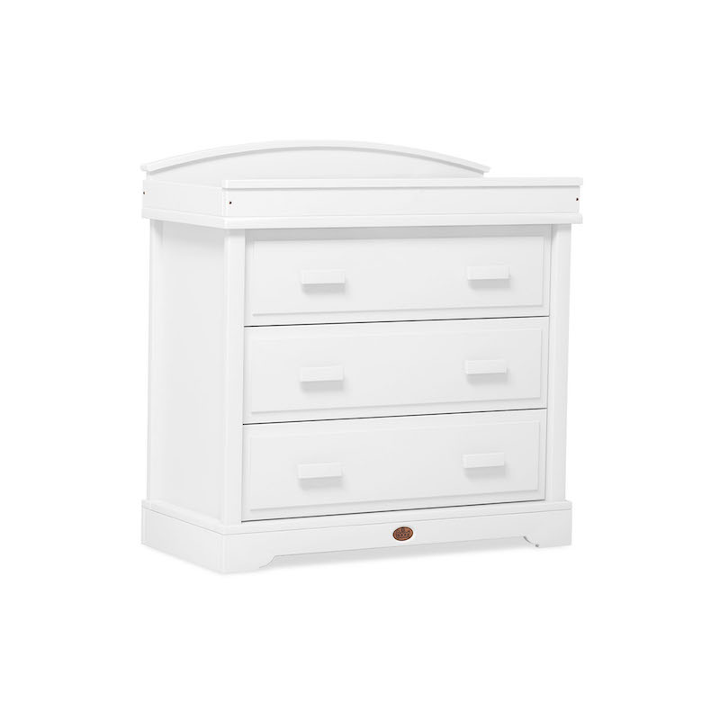 Boori Universal 3 Drawer Dresser With Arched Changing Station White