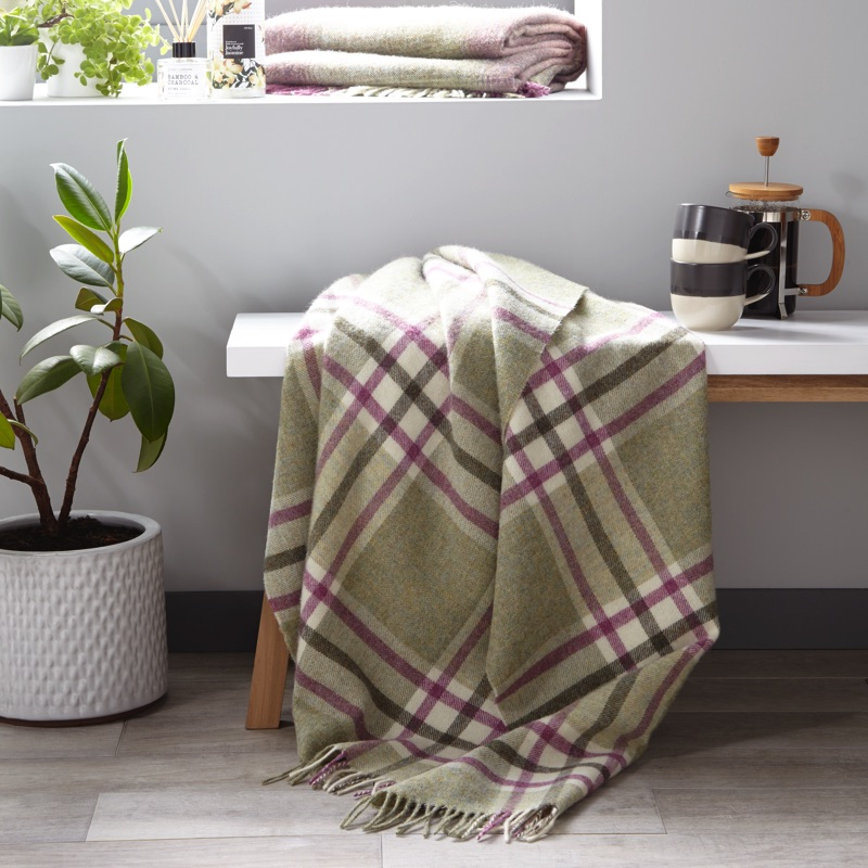 Arncliffe Wool Throw - Fern