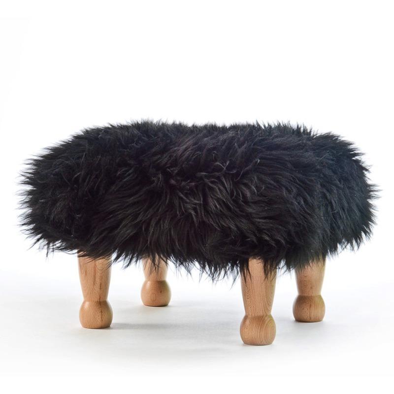 Chunky Baa Stool - Black