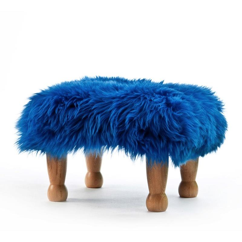 Chunky Baa Stool - Blue