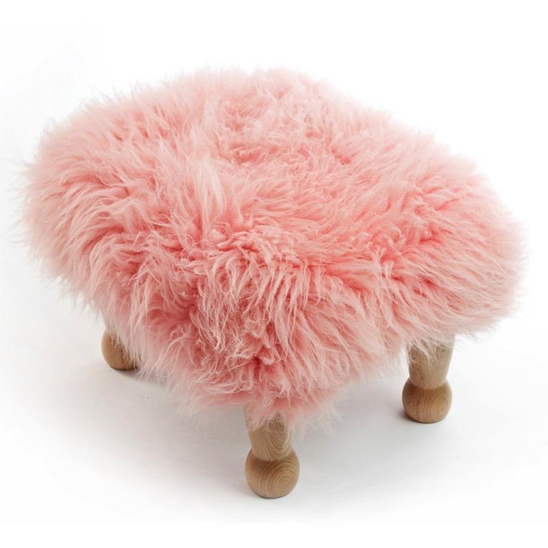Chunky Baa Stool - Baby Pink