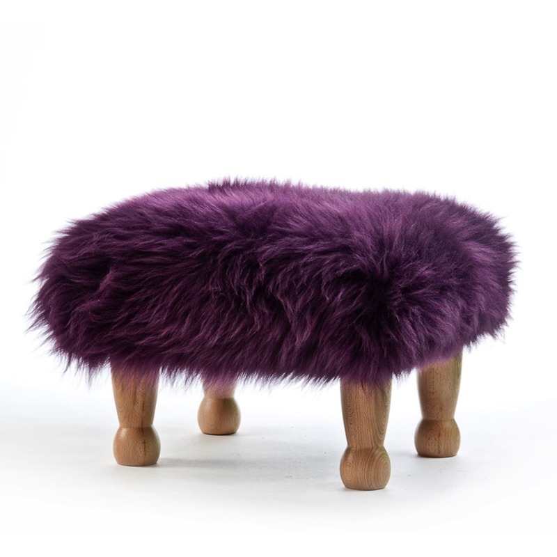 Chunky Baa Stool - Purple
