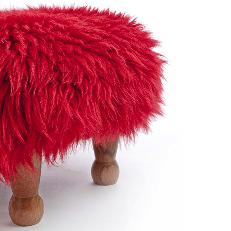 Chunky Baa Stool - Red