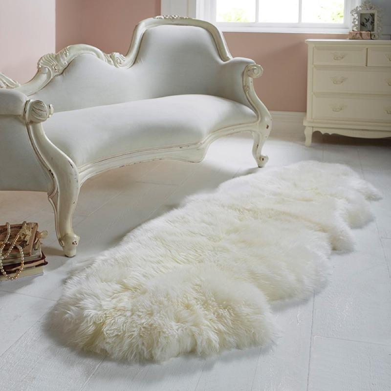 Double Sheepskin Ivory Rug