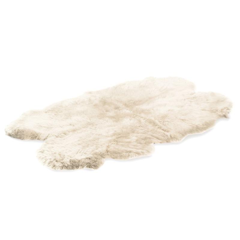 Quad Sheepskin White Rug