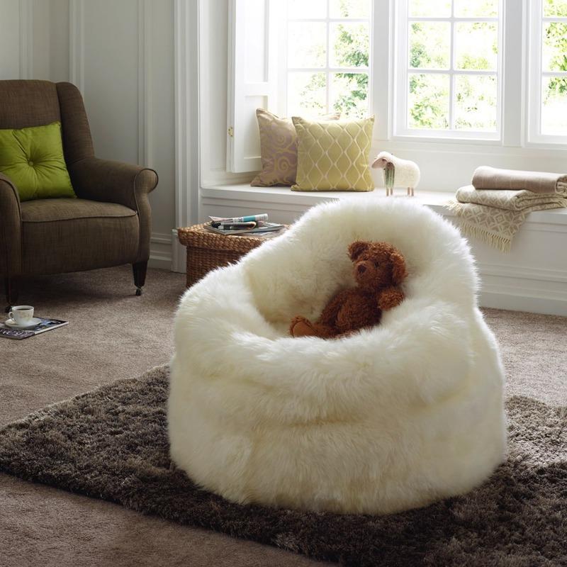 Ivory Sheepskin Bean Bag Seat