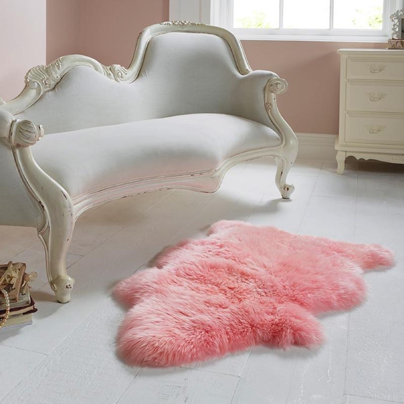 Single Sheepskin Candy Floss Rug