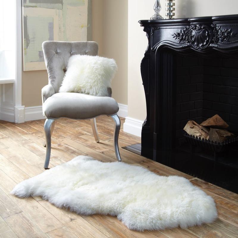 Single Sheepskin Ivory Rug