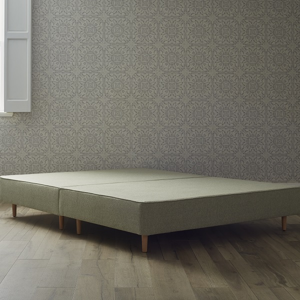 Shallow Divan With Legs - Upholstered