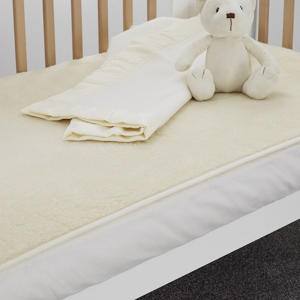 Wool Travel Cot Mattress Enhancer, 65 X 96cm