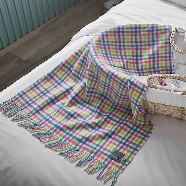 Babywool Blanket - Candy Gingham