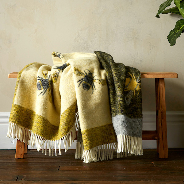 Woolroom Busy Bee Pure New Wool Throw