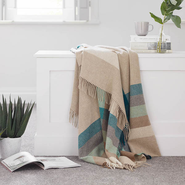 Harley Stripe Eucalyptus Merino Wool Throw