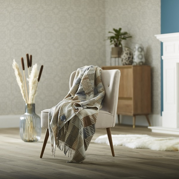 Woolroom Venice Merino Wool Throw - Natural