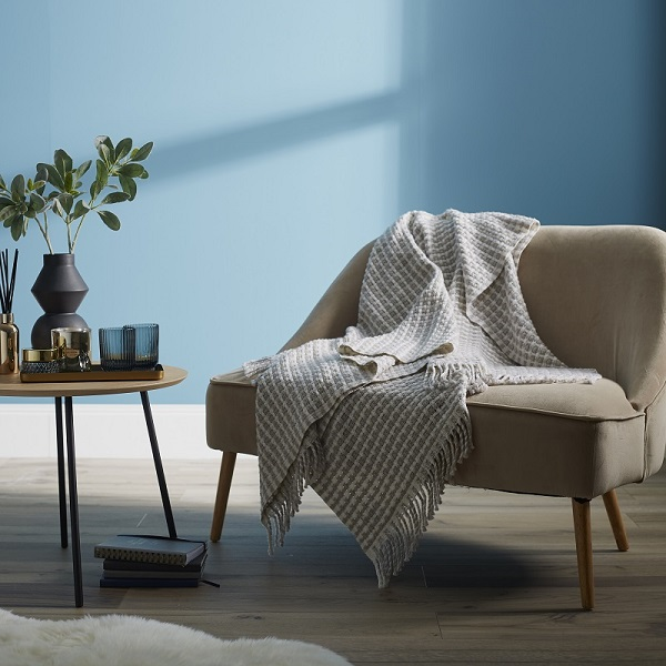 Woolroom Monika Merino Wool Throw - Stone
