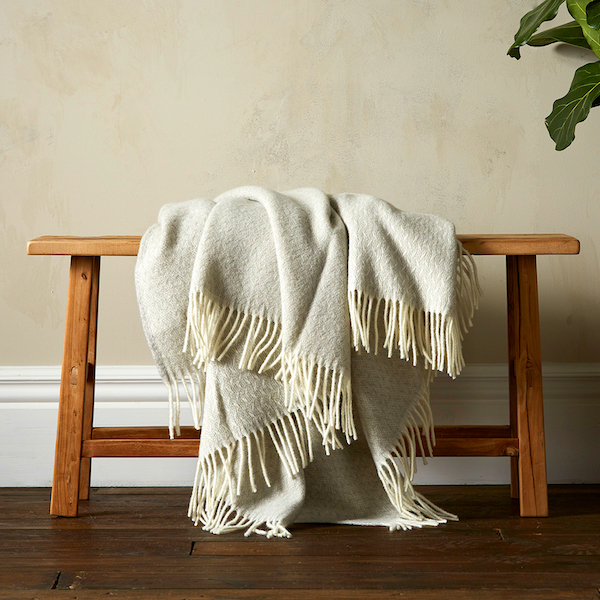 Woolroom Vilma Throw - Grey