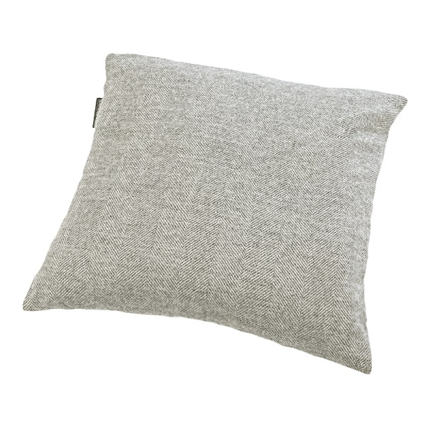 Woolroom Lilly Herringbone Cushion - Grey