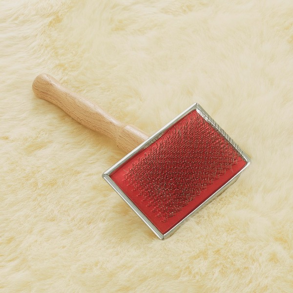 Wire Slicker Sheepskin Brush