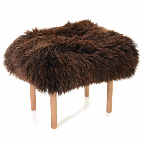 Carys Baa Stool - Chocolate