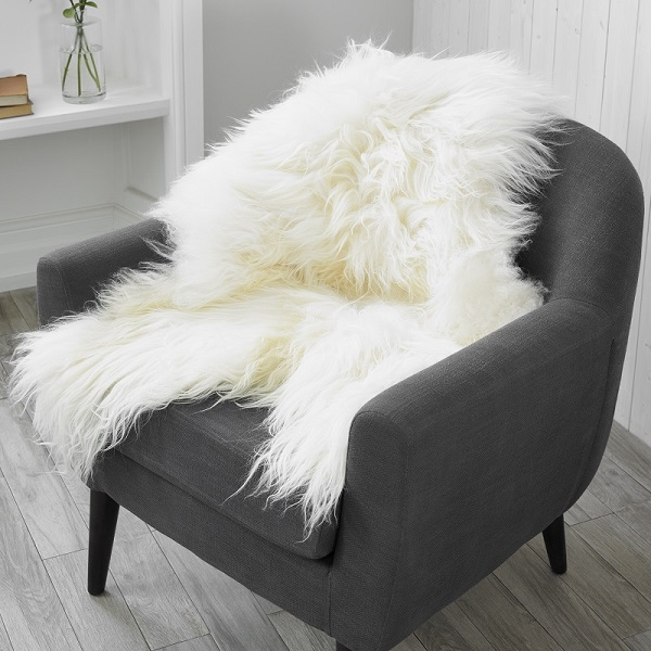Icelandic Sheepskin Longwool White