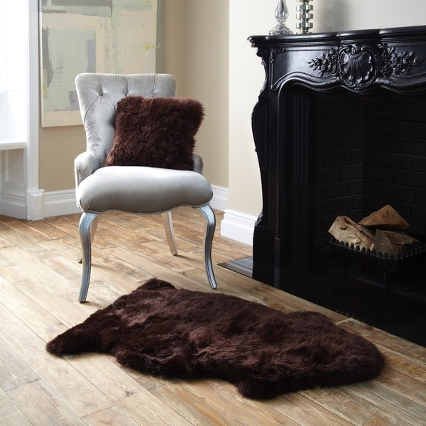Single Sheepskin Chocolate Rug