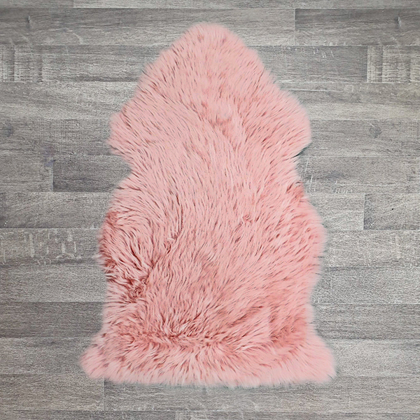 Single British Sheepskin - Pink - Large
