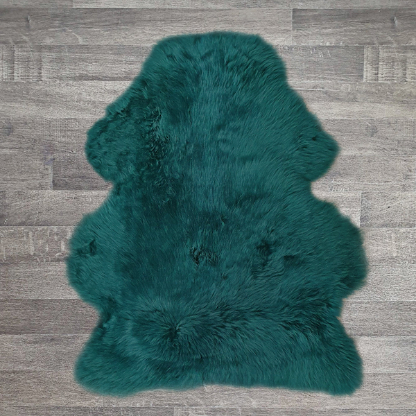 Single British Sheepskin - Teal - Large