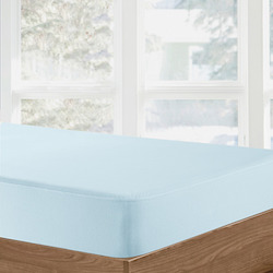 Organic Cotton Waterproof Fitted Sheet - Blue