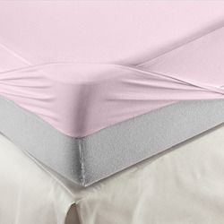 Organic Cotton Waterproof Fitted Sheet - Pink
