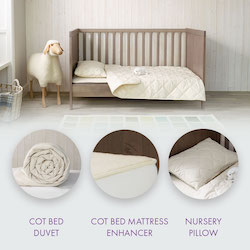 Babywool Cot Bed Bundle with Mattress Enhancer