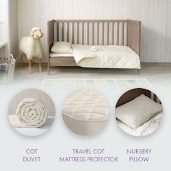 Babywool Travel Cot Bundle with Mattress Protector