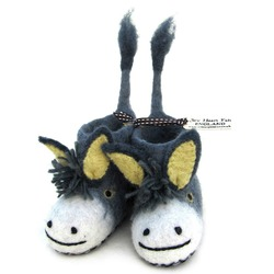 Darci the Donkey Felted Slippers