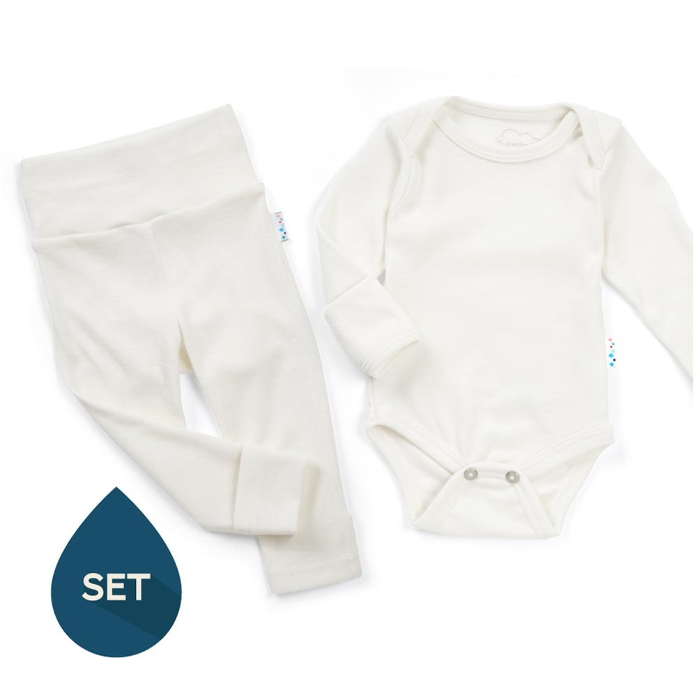 Superlove 100% Merino Baby Base Layer Set 6-12m