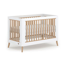 Boori Perla Cot Bed - White & Nutmeg