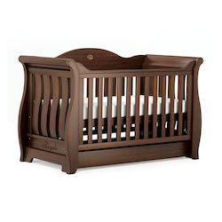 Boori Sleigh Royale Cot Bed - English Oak