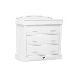 Boori Universal 3 Drawer Dresser with Arched Changing Station - White