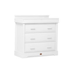 Boori Universal 3 Drawer Dresser with Squared Changing Station - White