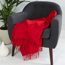 Chatsworth Baby Alpaca Throw Tomato