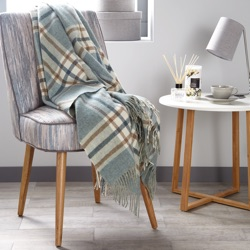Arncliffe Wool Throw - Aqua