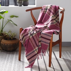 Arncliffe Wool Throw - Berry
