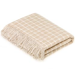 Athens Wool Throw - Beige