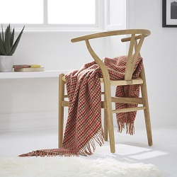 Chicago Wool Throw - Terracotta