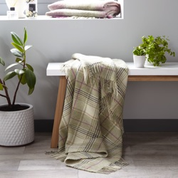 Huntingtower Wool Throw - Fern
