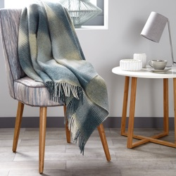 Kilnsey Wool Throw - Aqua