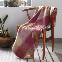 Kilnsey Wool Throw - Berry